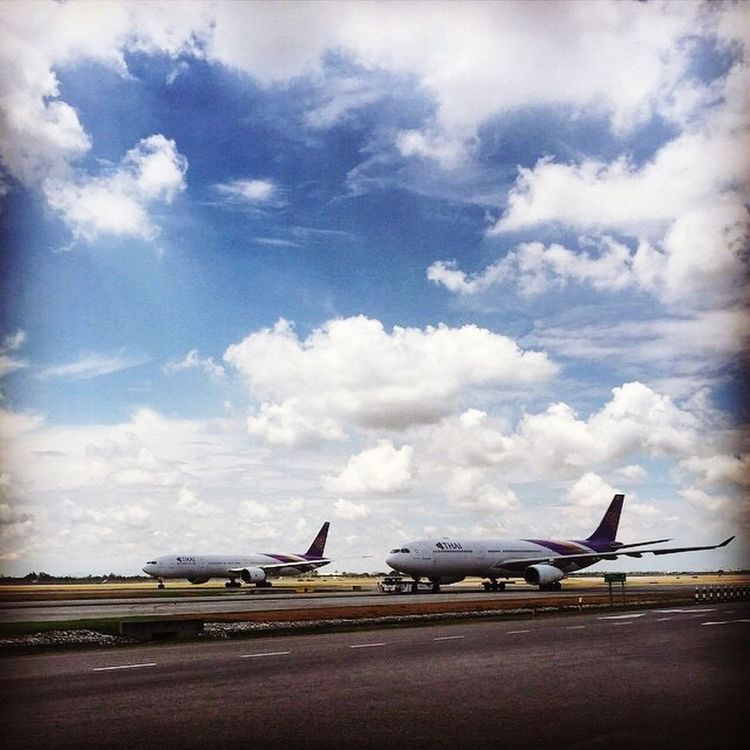 Ready Set Go!!!!!! Thailand Thai Scenics Sky Cloud - Sky Runway Travel Airplane Transportation Airport Airport Runway Aircraft Wing Propeller Airplane Plane Thaiairways Airlines Suvarnabhumi Airport BKK Sandiienima