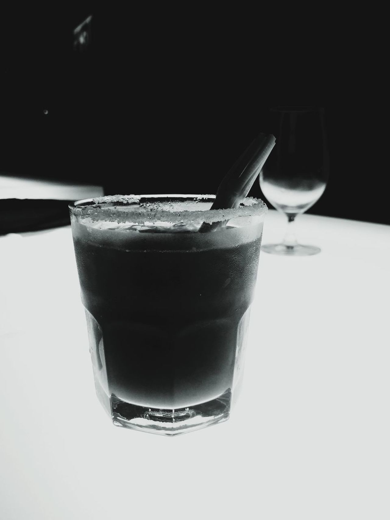 Drink Drinking Glass Food And Drink Refreshment No People Indoors  Freshness Alcohol Close-up Salt Oneplus2 Hypocam Black And White Photography Black And White EyeEm Best Shots - Black + White Eyeemedit Hyderabad,India The Lal Street Pub