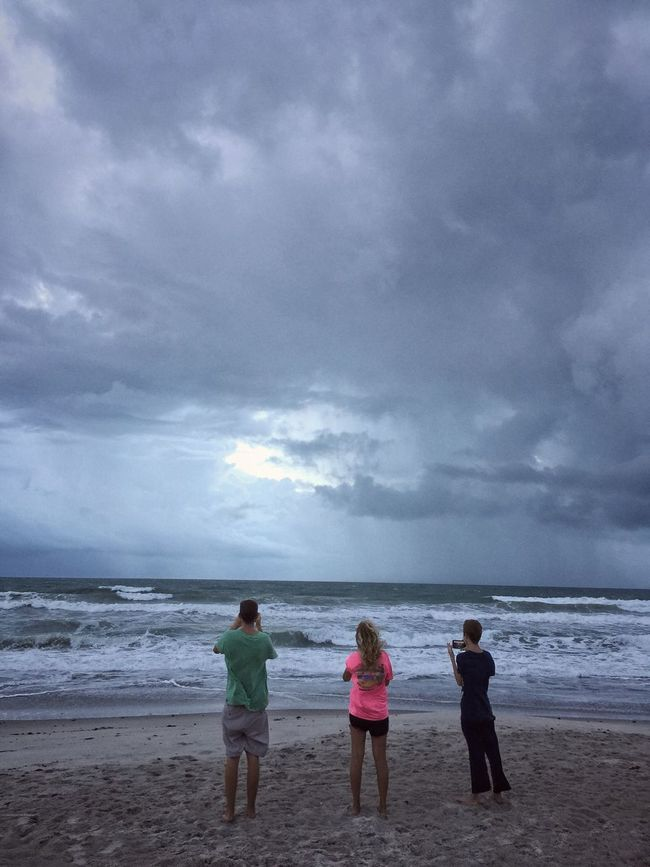 Windy morning Hurricane Matthew 2016 Melbourne Beach, FL Sunrise And Clouds Togetherness Cloudy Oceanscape Hurricane Weather Hurricane Matthew Family Time Windy Day