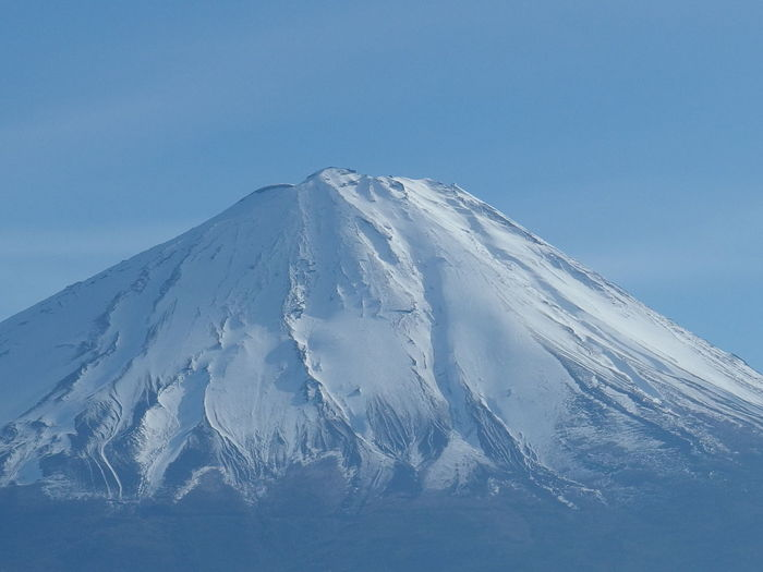 FOCUS ON THE VERTEX OF FUJI MOUNTAIN Beauty In Nature Clear Sky Fuji Fujimountain Mountain Sky Snow Winter
