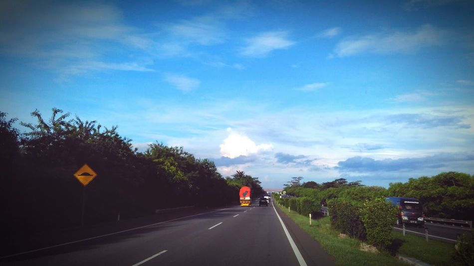Highway Hello World The Greatest View From Here The Places I've Been Today Clouds And Sky Banten Travel Photography That's Me