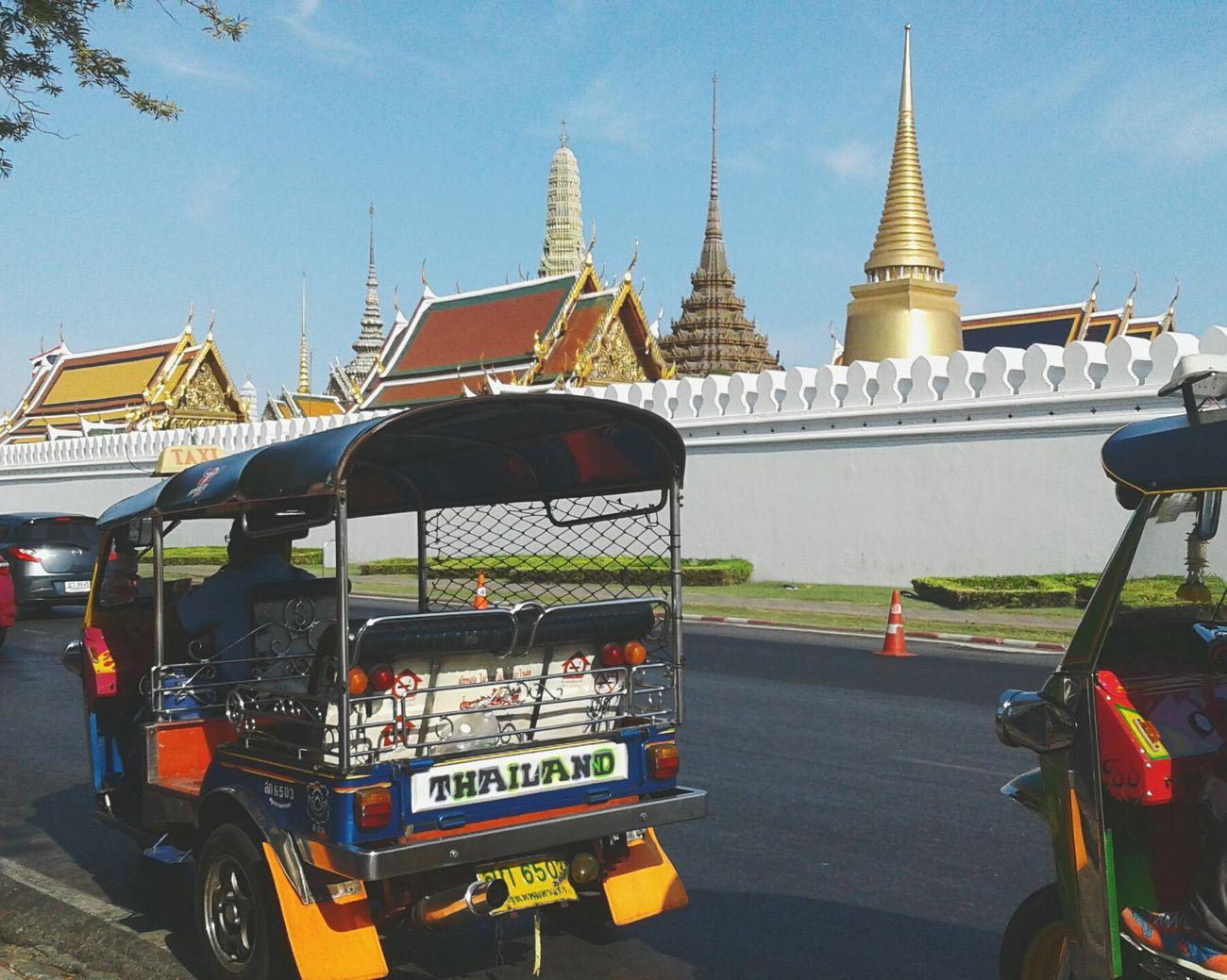 Tuktuk Enjoying The Sun Temple - Building I Love Thailand Thailand