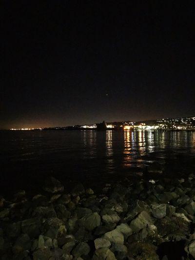 Beach Beauty In Nature First Eyeem Photo Acitrezza  Bynight Water Night Illuminated Outdoors Nature Sea Sky
