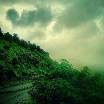 Nature Road Journey Mountain clouds rain monsoon beautiful scenery nashikgram nashik nasik devlali deolali happiness grass sunset photography
