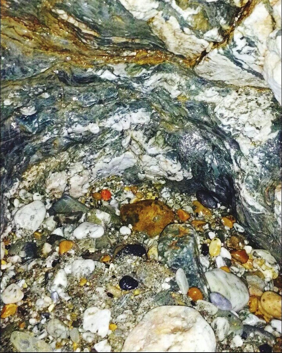 Beach Cave Minerals Rocks Wet