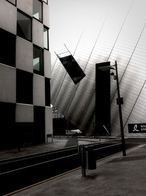 blackandwhite at Grand Canal Square by •Gerry L•