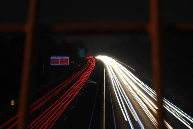 Light Trail Speed Long Exposure Motion Night Transportation Illuminated Traffic Red Blurred Motion Road City Life No People Rush Hour Outdoors City High Street Road Sign Sky Cannon600d Canonphotography Untouched EyeEmNewHere EyeEm Selects