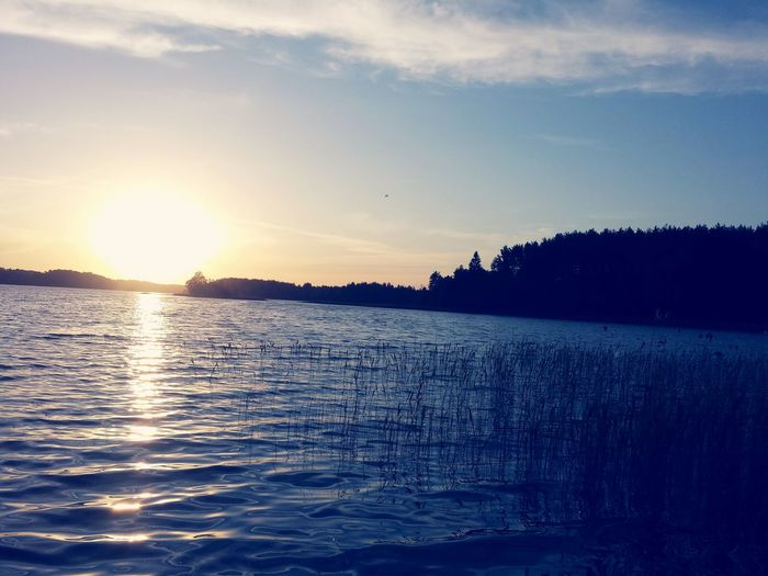 Lake Sunset Sumertime Water Nature