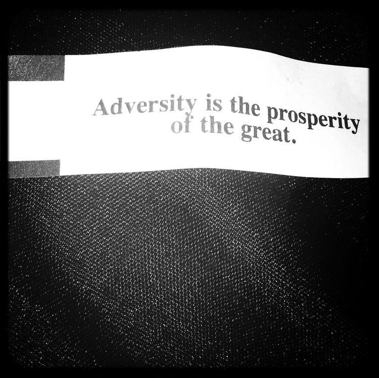 Chinese Food Fortune Cookie Overcomingadversity