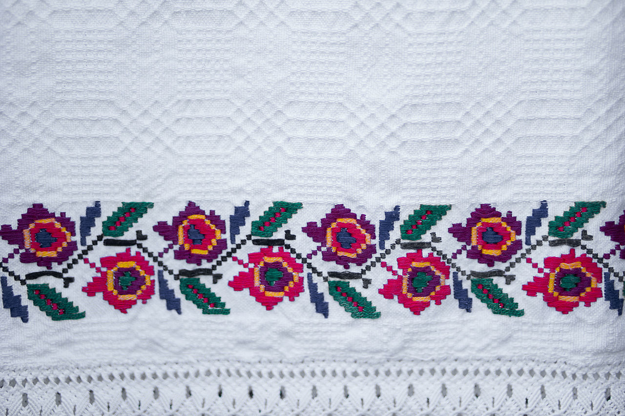 Textile Embroidery Close-up No People Textured  Backgrounds Geometry Flower Abstract Colorful Symbol Design Craft Art And Craft Art Textured  Variation Colours Colors Decorative Art Romanian Tradition Traditional Culture Tradition Pattern Multi Colored