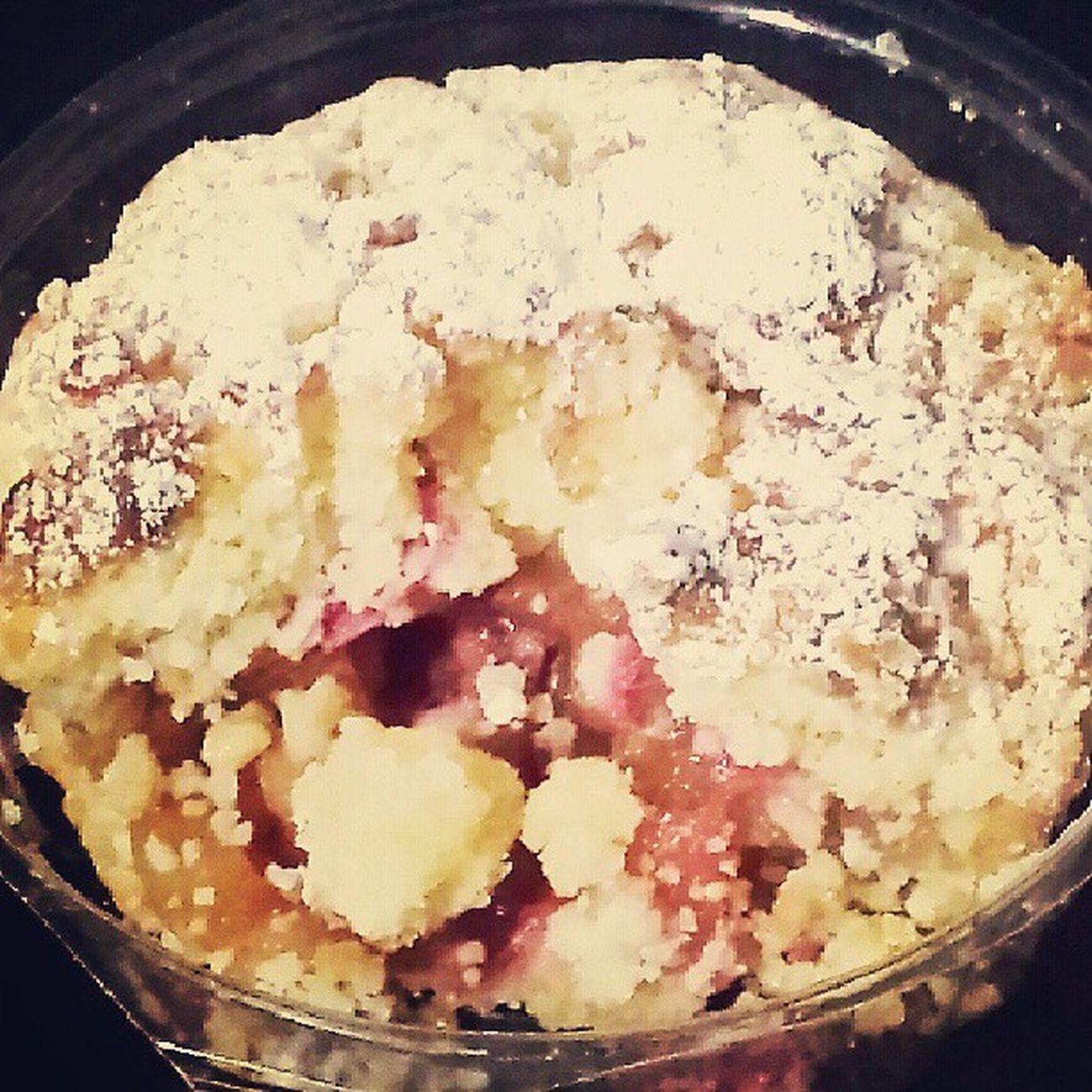 Every bite is yummmmm! Hahaha Appleandrhubarbtart Tarts Sweets