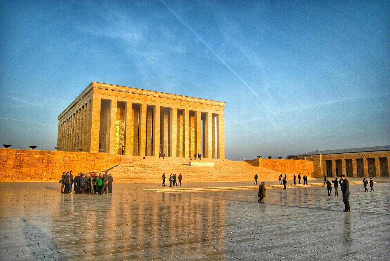 People At Anitkabir Against Sky On Sunny Day