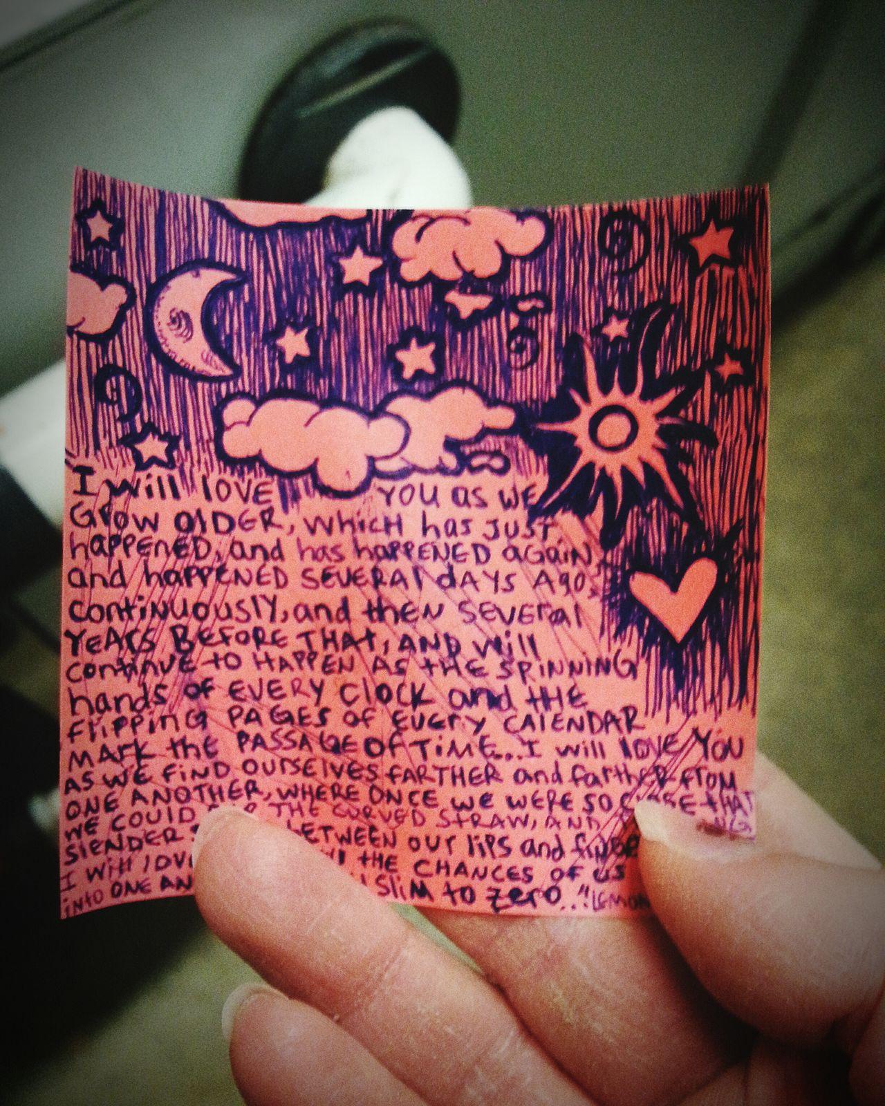 Lemonysnicket ArtWork Stickynote Stickynote Love Art Doodles