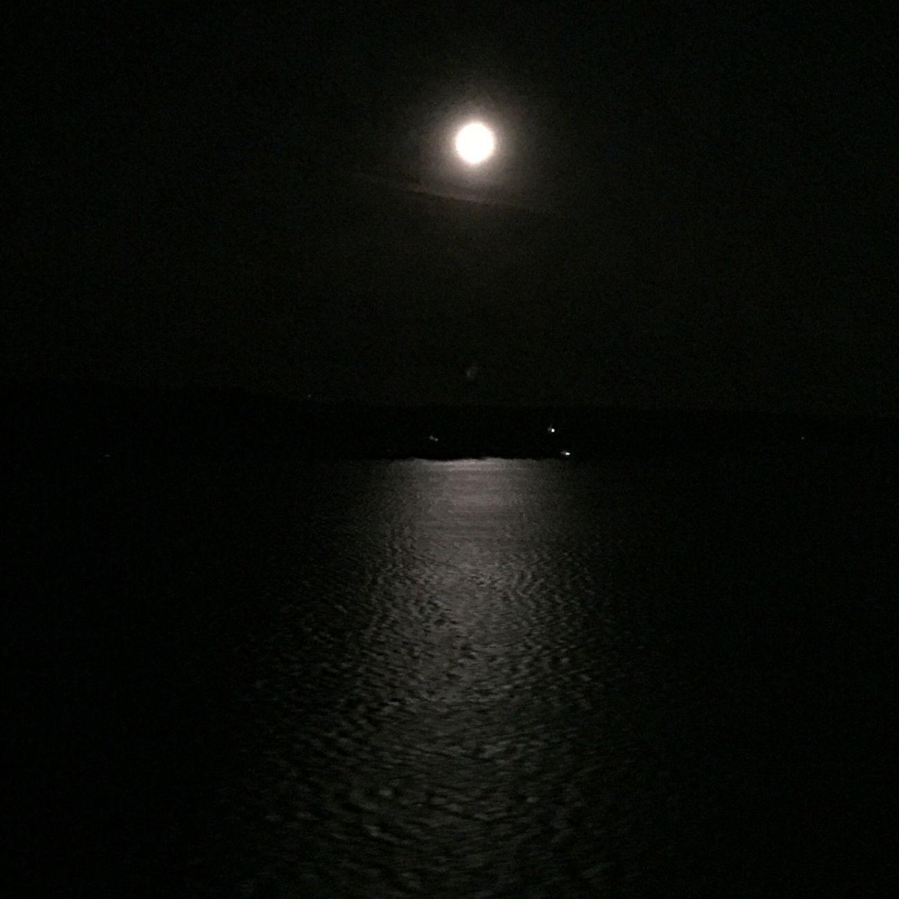 Dark Moonlight Seascape