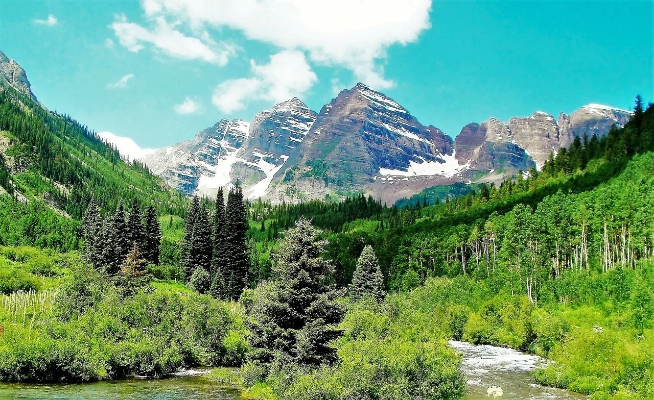 Summertime Cloud - Sky Beauty In Nature Colorado Photography Maroonbells Riverflows Green Color Coloradolovin