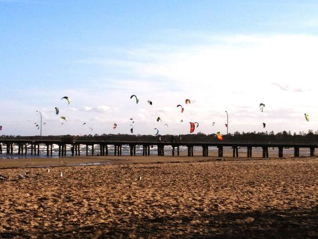 Beach Kitesurfing Enjoying The Sun