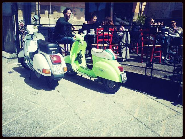 Sardinia- Italy / Cerdeña-Italia Vintage Italy Motorcycles Taking Photos