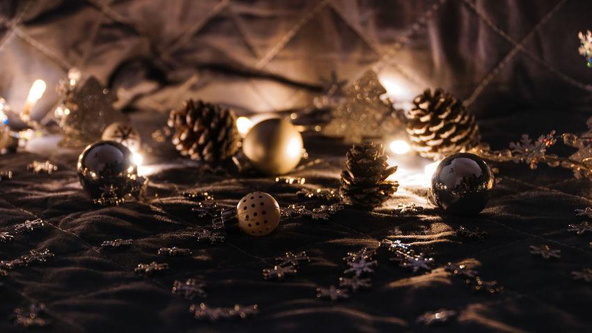 Christmas Christmas Lights!  Holidays Lights New Year Bauble Christmas Decoration Christmas Ornament Close-up Decoration Diya - Oil Lamp Illuminated Indoors  Multi Colored Night No People Seashell Selective Focus Tree Decoration
