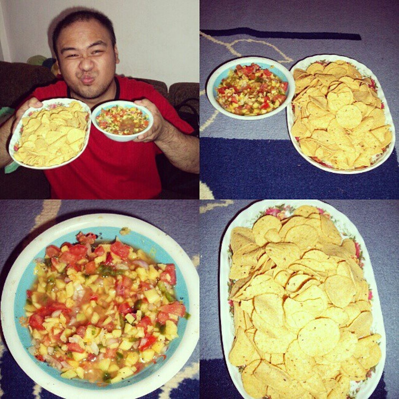Nightsnack : Nachos with Salsa! Thanks, @theoauielina for the recipe! :) Foodstagram GoodTimes ImAFoodLover IGers