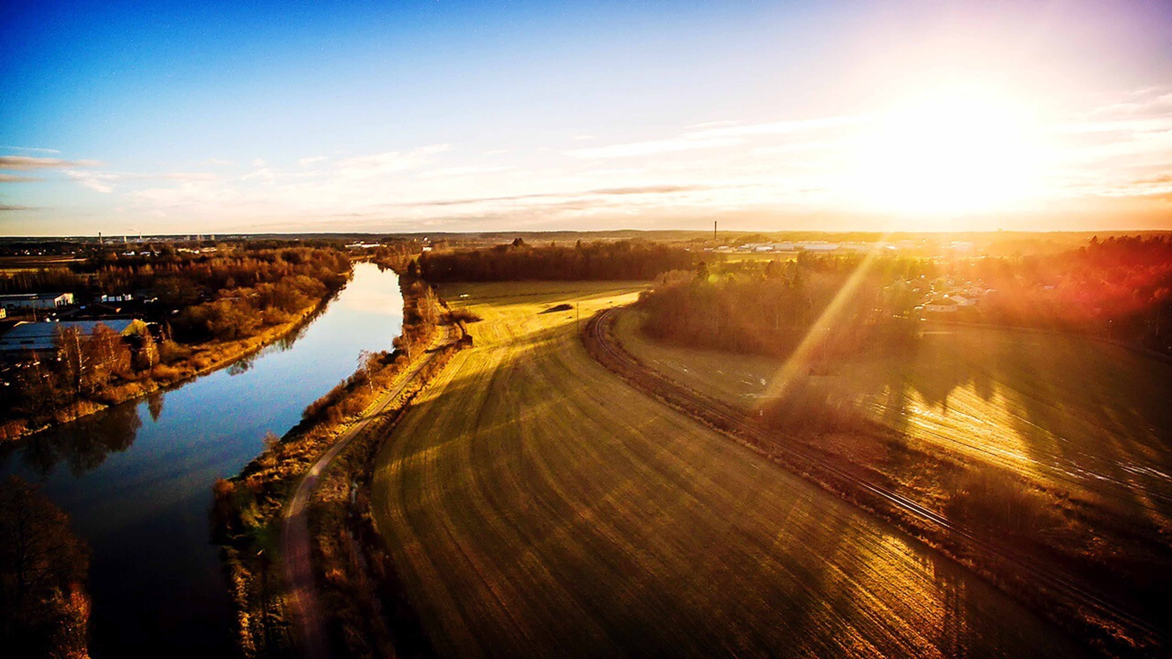 The river Eskilstuna Weloveeskilstuna DJI Phantom 3 Professional Arial Shot
