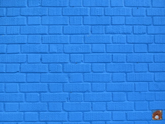 Brick Wall Brick Bricks Brick Work EyeEm Best Shots - Architecture Blue Backgrounds Full Frame Perfect Imperfect  Blue Backgrounds Full Frame Textured  Architecture Built Structure Brick Wall Contrasts Stone Material Vibrant Color Architecture Outdoors Building Exterior Freshness Blue Wall