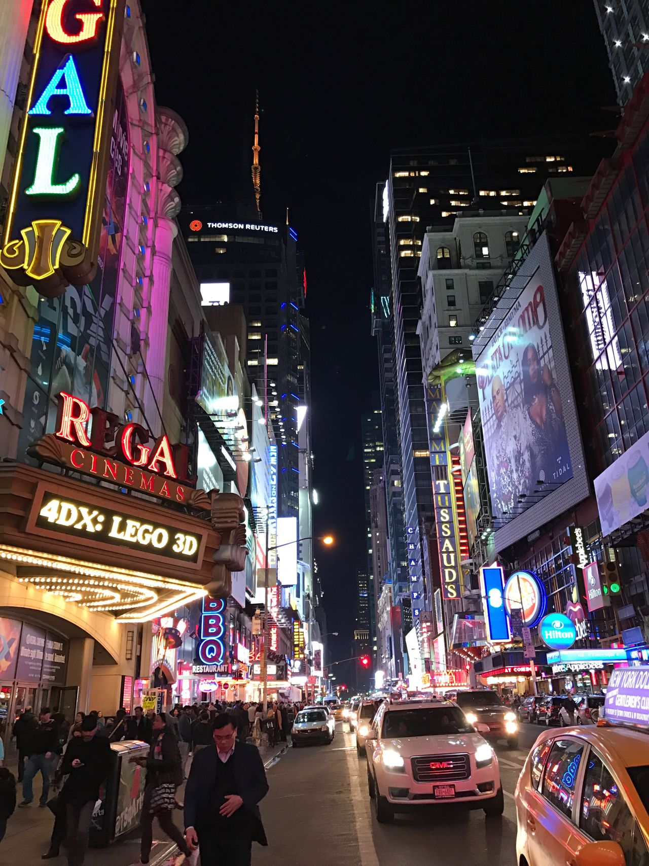 Times Square NYC Night Illuminated City Travel Destinations Tourism Taxi Nightlife Skyscraper City Street City Life Tourist Traffic Travel Building Exterior Multi Colored Neon Cityscape Architecture Yellow Taxi Outdoors