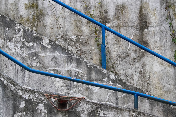 Architecture Banister Blue Down Downward Handrail  No People Outdoors Hagen Hohenlimburg