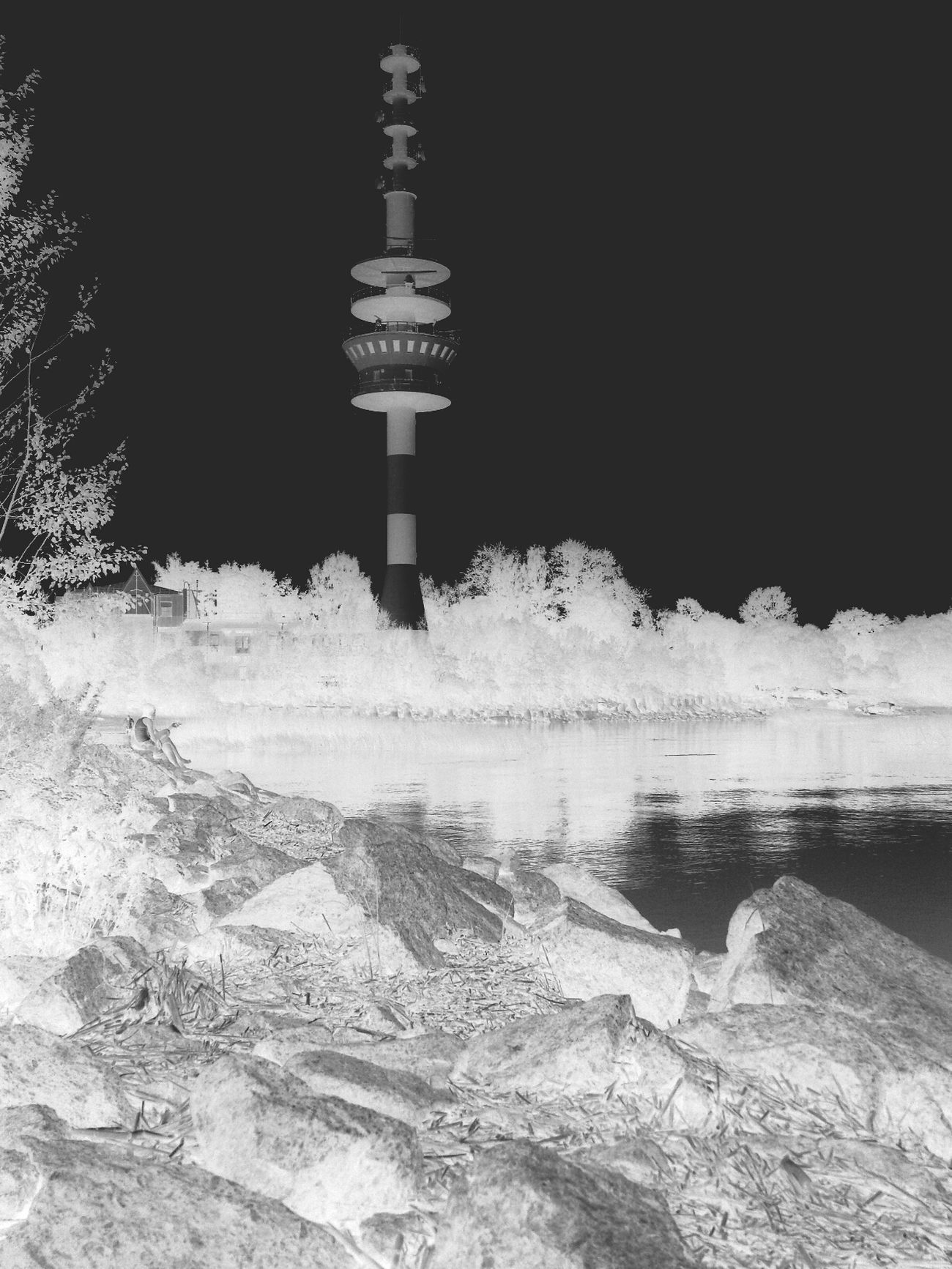Негативно )) Negative Blackandwhite Lighthouse Reflection