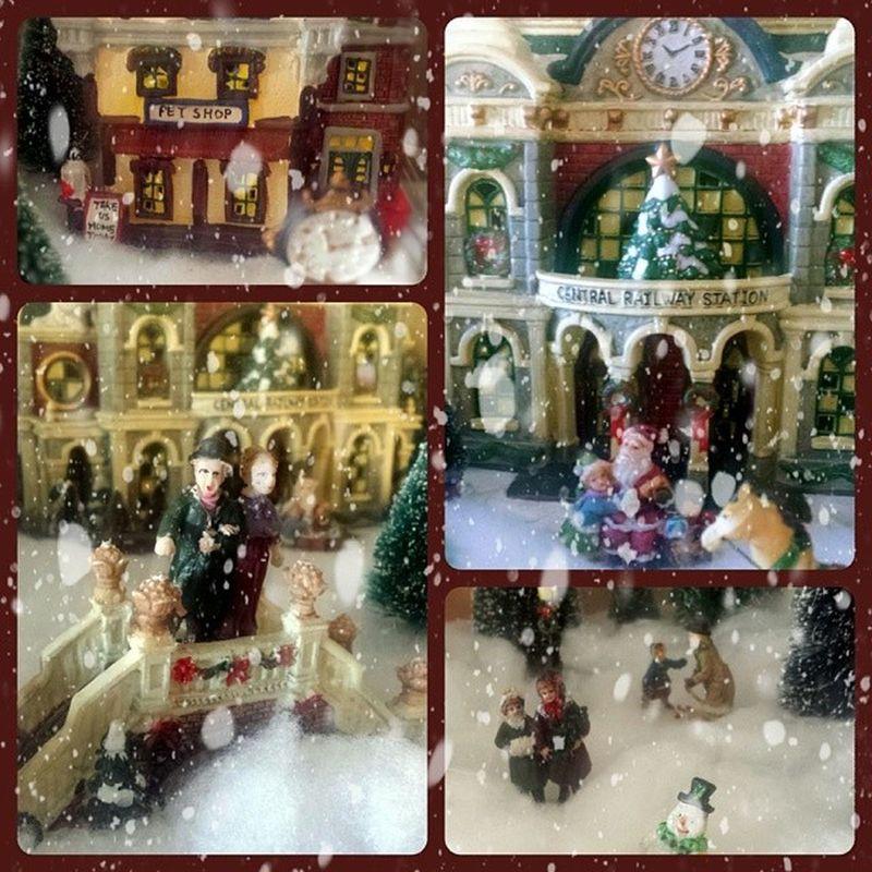 Annual Christmas Village Christmas Christmasvillage Onceayear Lovetheholidays decor familytime photooftheday tagsforlikes imagination