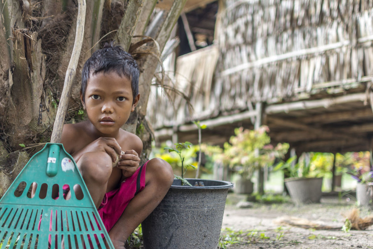 The Portraitist - 2016 EyeEm Awards.... Boy from Mahmeri Tribe at Pulau Carey Selangor