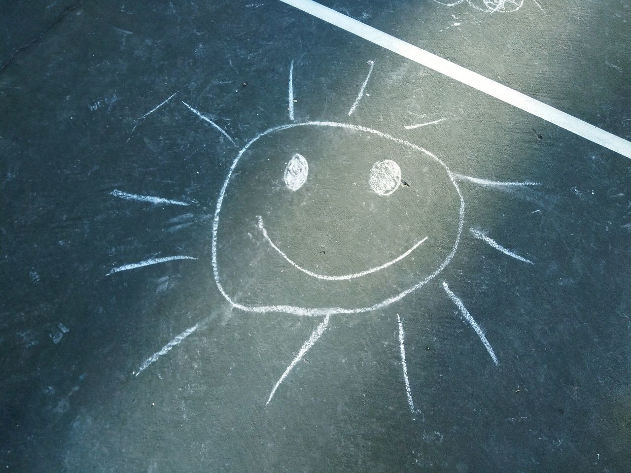 Chalk Drawing Kids Drawing Kids Drawings You Are My Sunshine Sunny Day 🌞 Sun ☀ Adelaide, South Australia Drawing - Art Product Playground Court Outdoors Cute Cute Drawings First Eyeem Photo