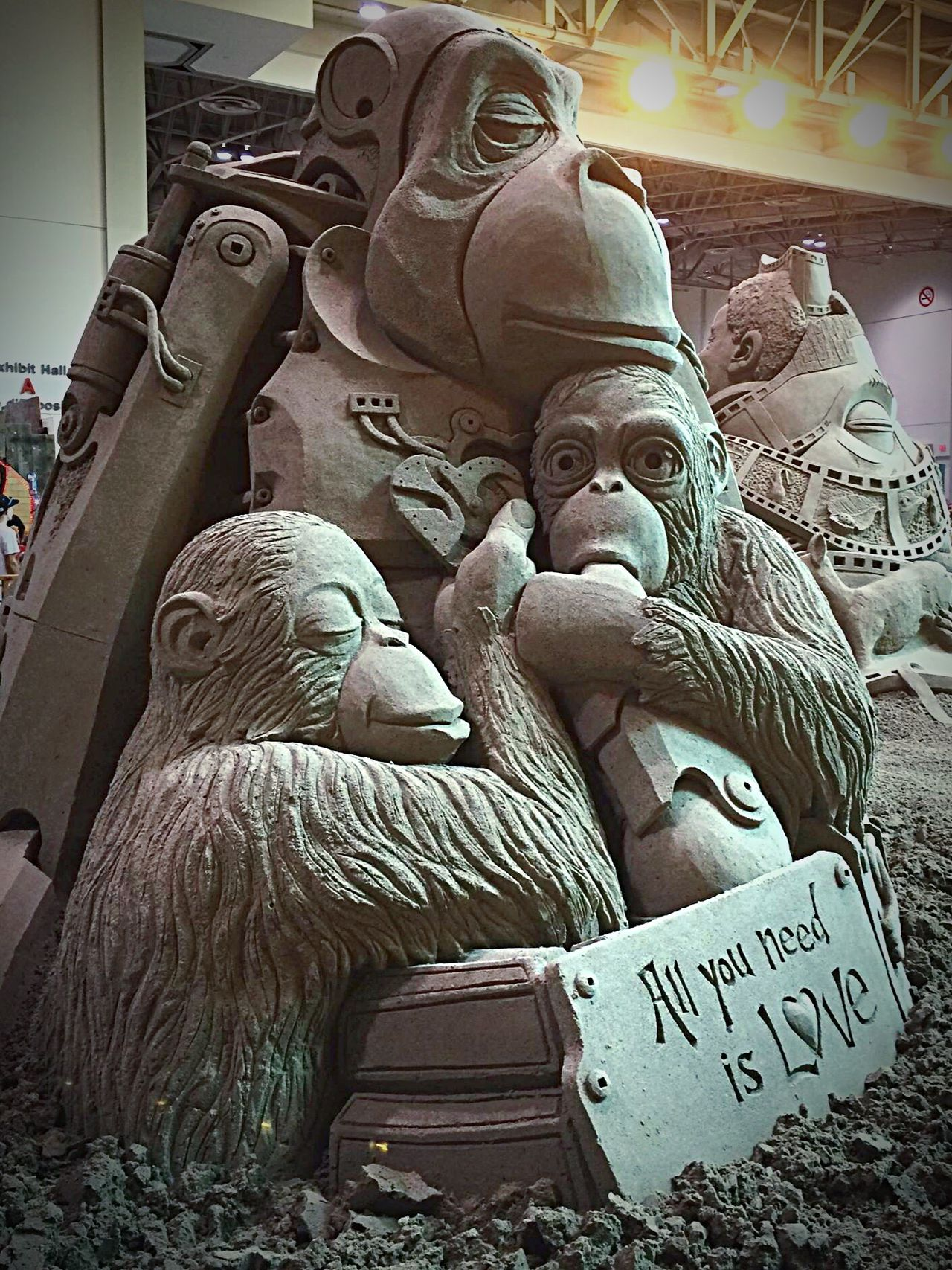 Sandcastles Sand Sandsculpture CNE Allyouneedislove All You Need Is Love EyeEm Gallery IPhoneography Eye4photography  Photography Is My Escape From Reality! Taking Photos Summertime Torontophotographer Photography WhoDoYouLove Falling In Love Monkey Monkeys Family 3 Lil Monkeys