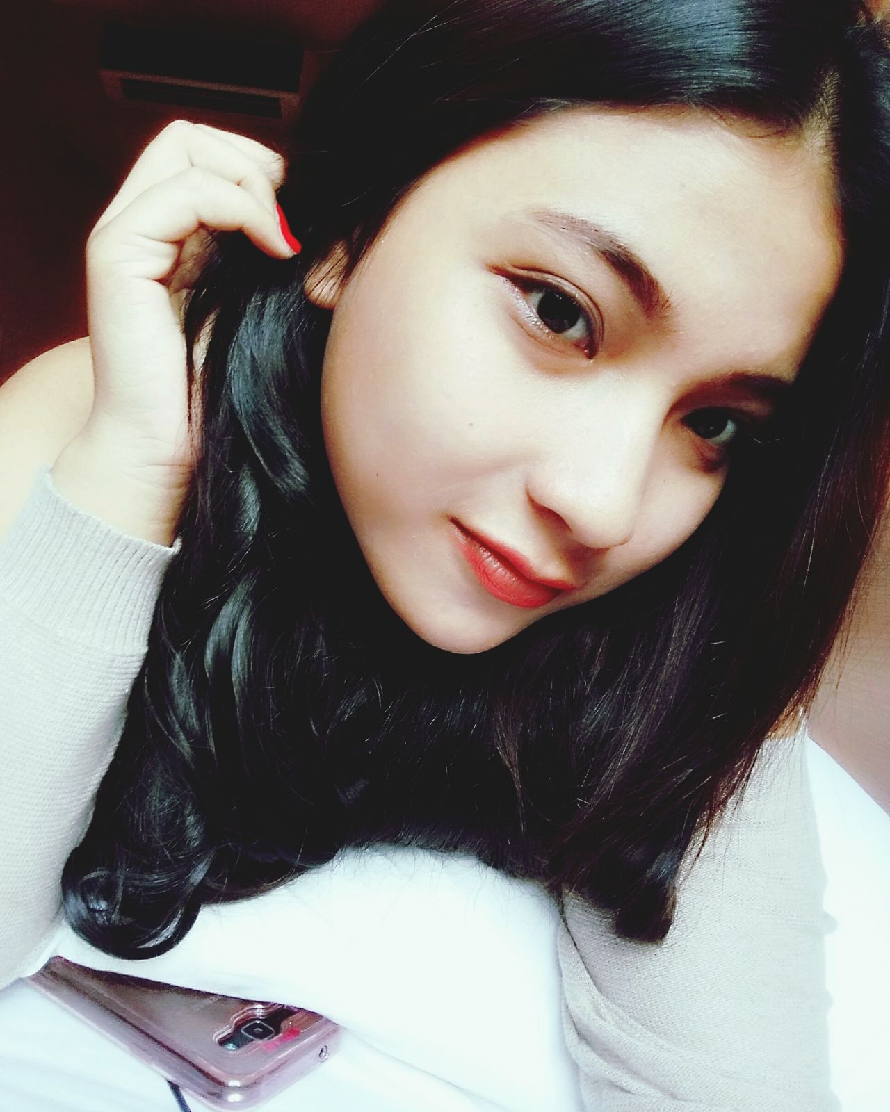 One Woman Only Beauty Beautiful Woman Indoors  Indonesia_photography Jawatengah Only Women Adults Only Portrait One Person Adult One Young Woman Only Young Adult Looking At Camera People Young Women Women Warm Clothing Headshot Smiling Close-up Human Body Part