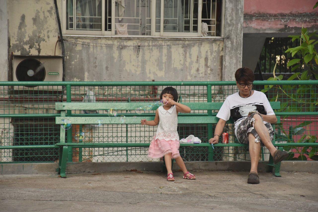 Stay With Me. Hongkongcity 南山邨 Hongkongstreet Littlegirl Childhood Bubbles First Eyeem Photo
