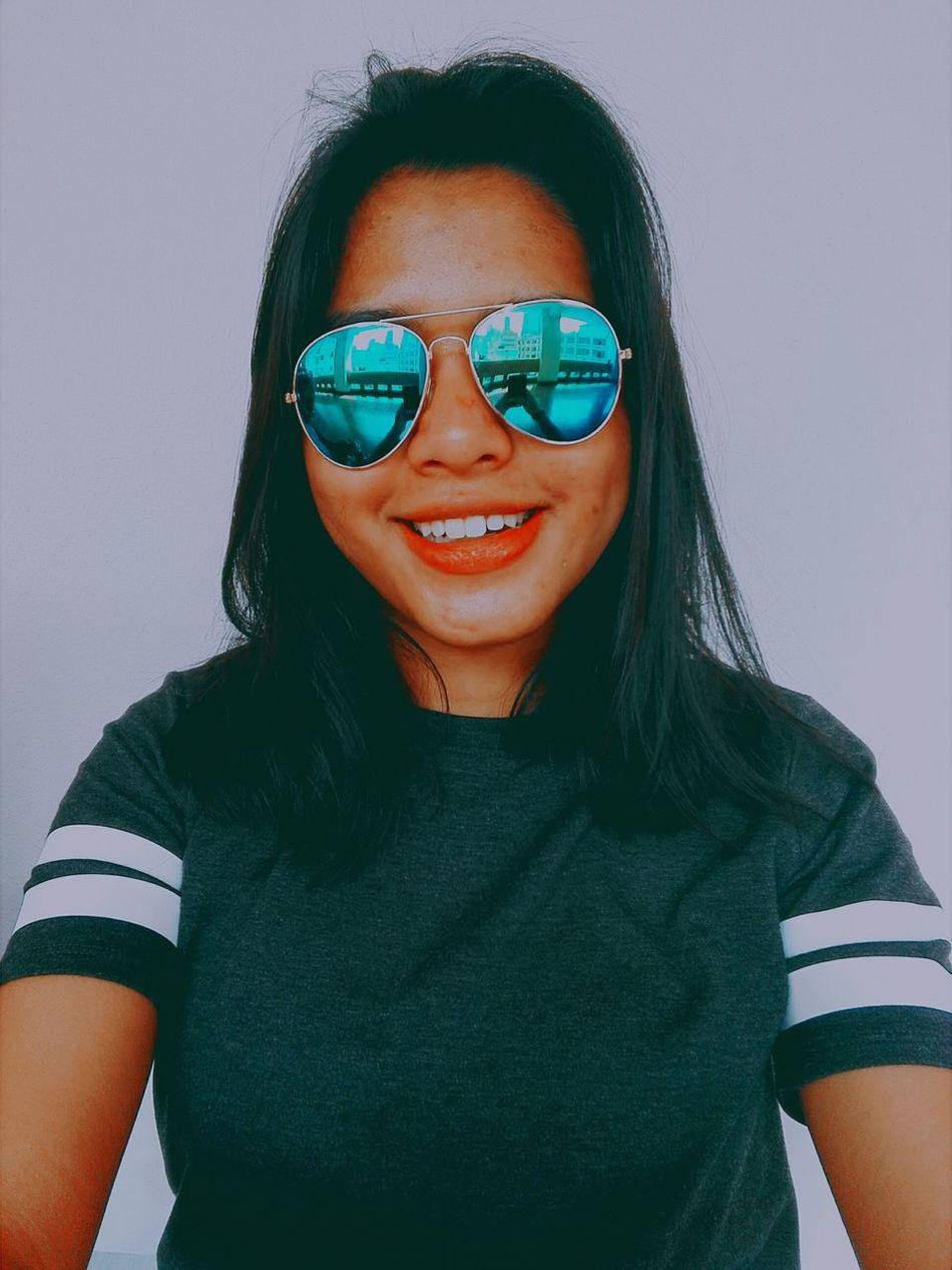 BLUE 💙💙 Beautiful Blue Sunglasses Sunny Day Awesome Cute Selfie✌ Smile Fotografia Mexico City MexicanGirl Travel Enjoying Life Polanco, CDMX