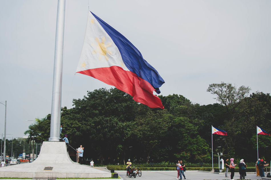 Flag Multi Colored Outdoors Streetphotography 35mm D7100 Nikon Philippines RizalPark Rizal Waving Street No People