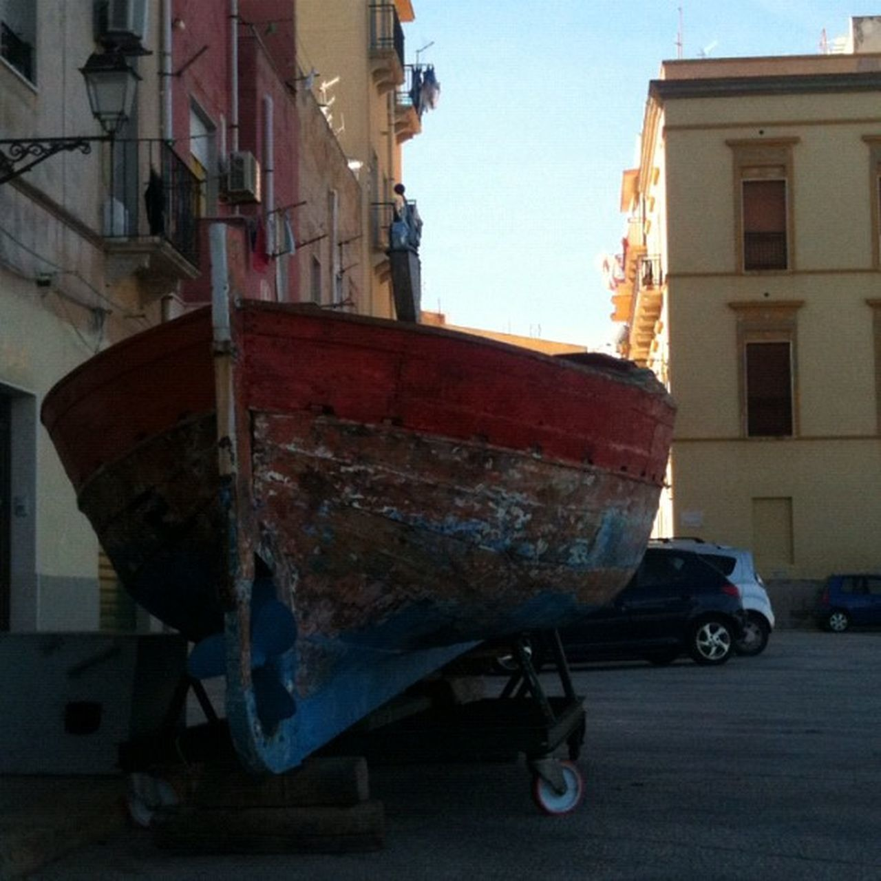 transportation, building exterior, built structure, architecture, mode of transport, outdoors, no people, nautical vessel, sky, city, day
