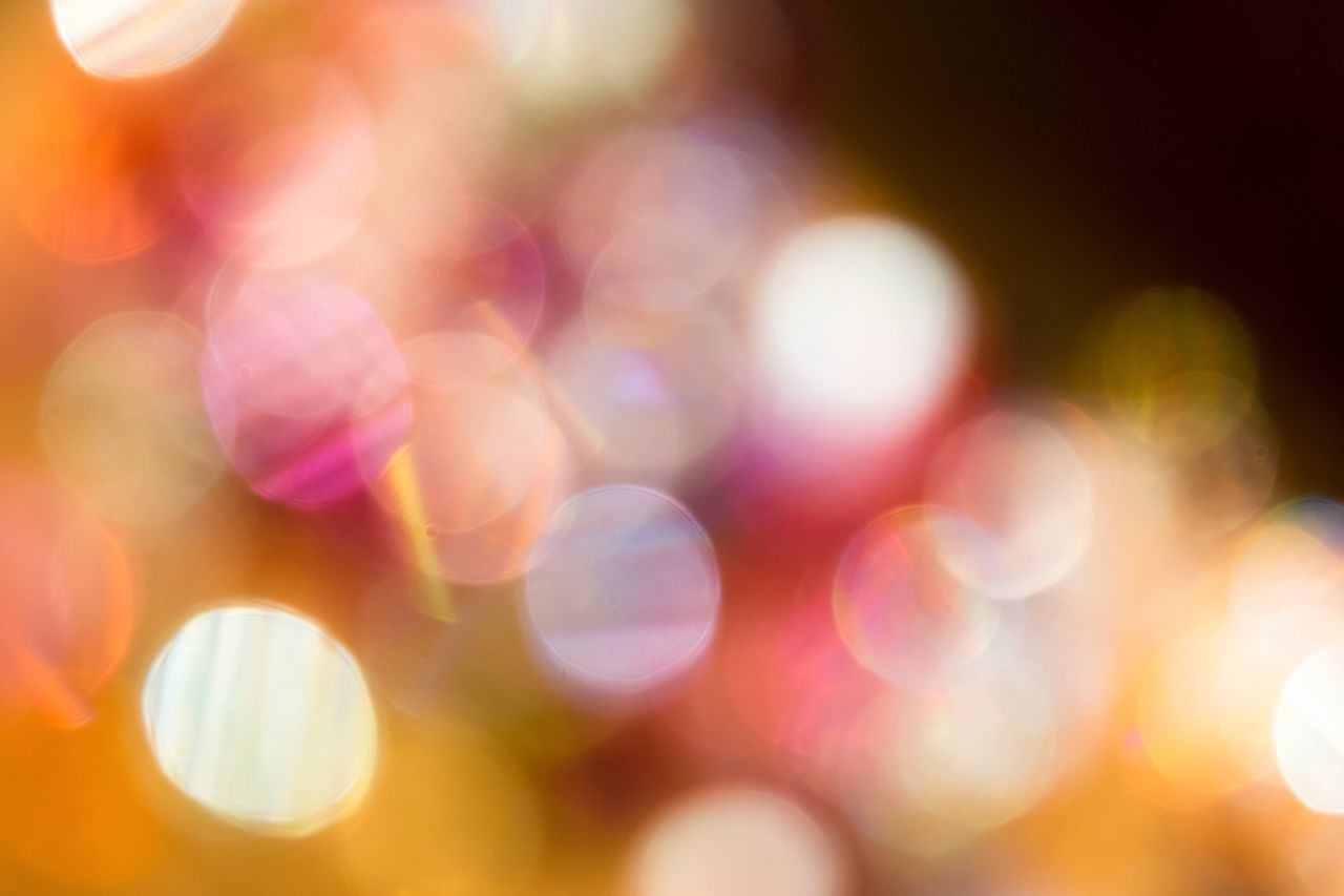 Illuminated Defocused Multi Colored Light Effect Lighting Equipment Night Fairy Lights Blurred Close-up Pattern No People Backgrounds Abstract Indoors  なんかキラキラしたもの ✨ Bokeh Something Glittery