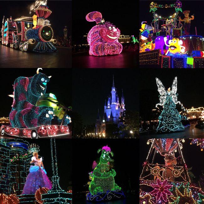 晚上ㄉ遊行超美ㄉ哇💕 Tokyodisneyland 20150513 Thu