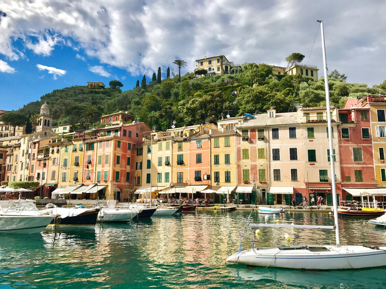 Neighborhood Map Architecture Building Exterior Sky Water Nautical Vessel Built Structure Waterfront Cloud - Sky Day Mode Of Transport Outdoors No People Tree Nature Fishing Boat Fishing Village Italia Riviera Italian Riviera