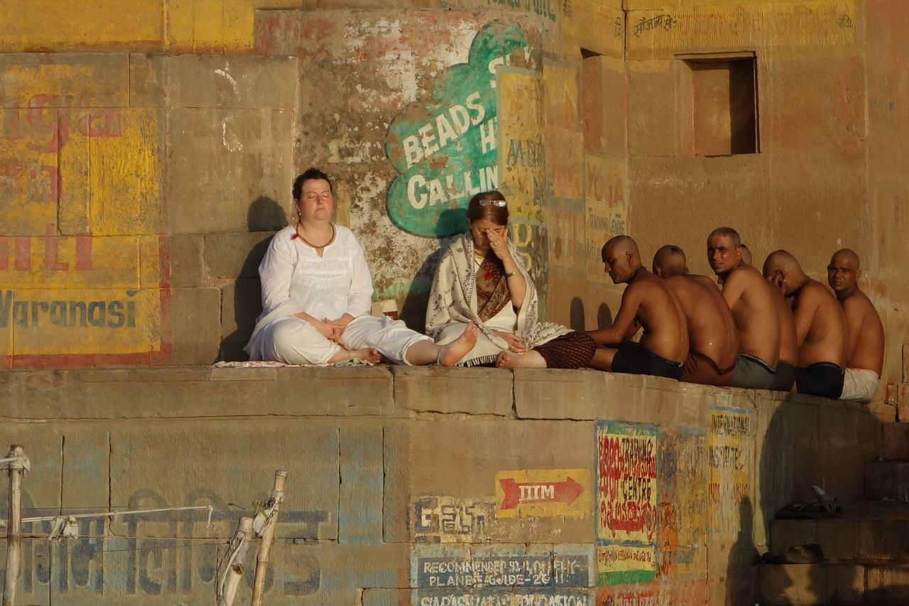 ASIA India Varanasi, India Ganges, Indian Lifestyle And Culture, Bathing In The Ganges, Ganges River