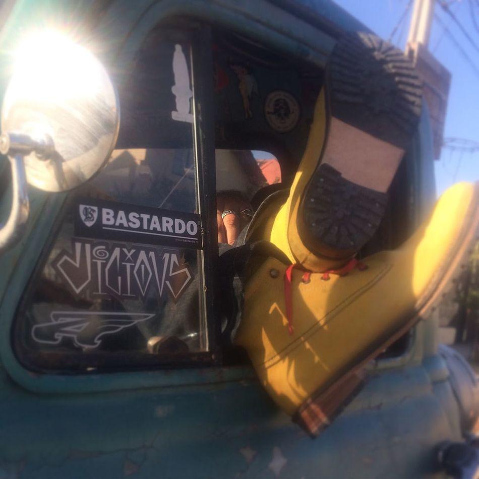 Boots Bastards Window Vehicle Interior RatRod