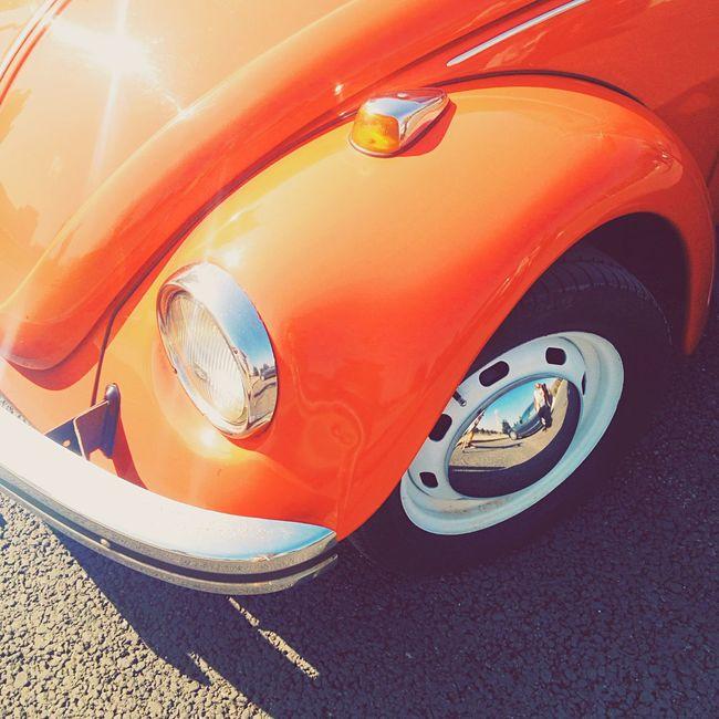 Volkswagen Beatle Car Sunlight Chrome Red Smotra Mylove