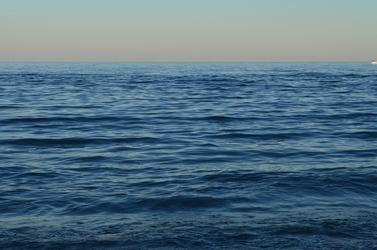 View Of Calm Sea Against Clear Sky