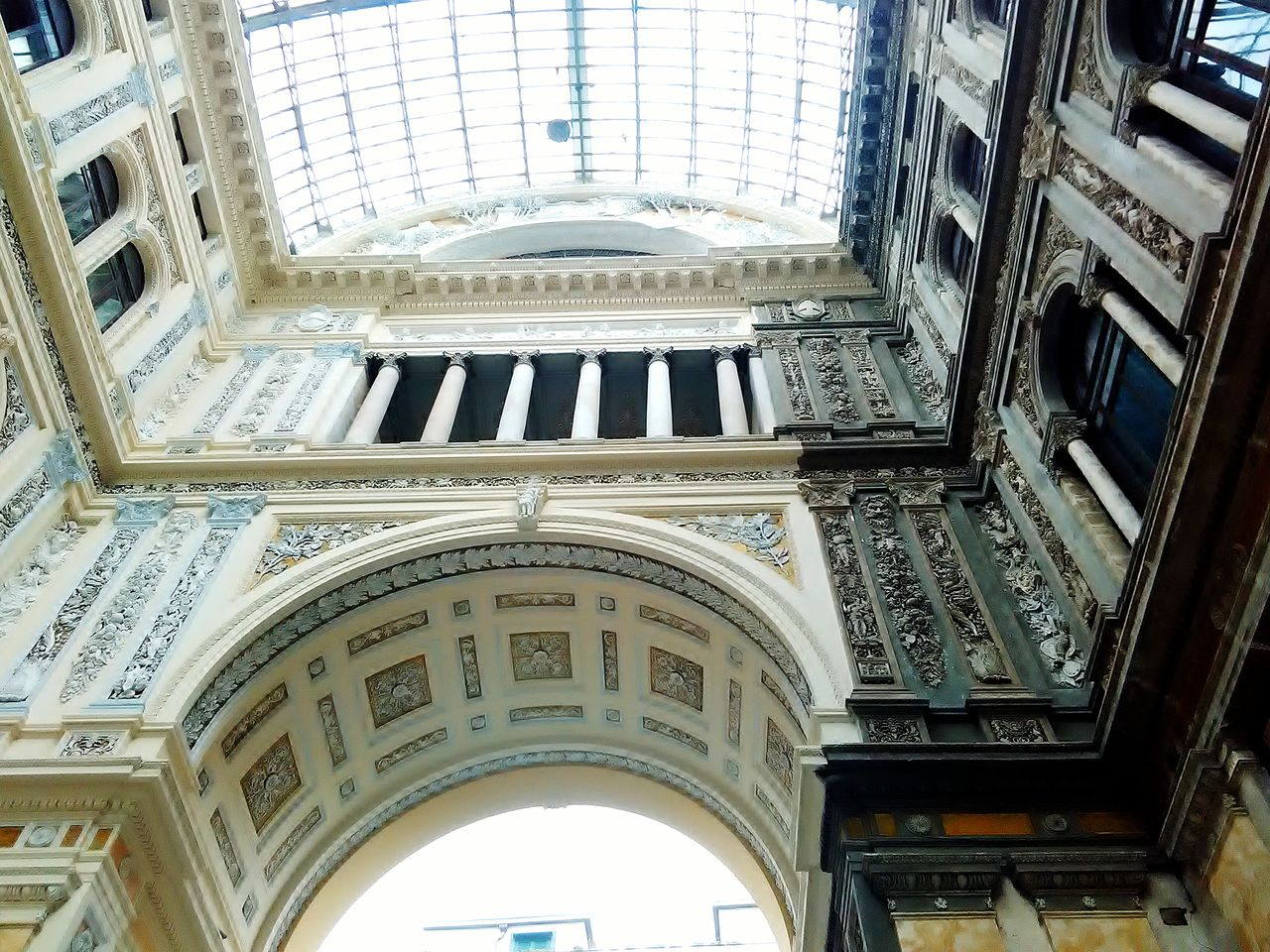 Architecture Built Structure Building Exterior Low Angle View No People Day Arch City Outdoors City Life Backgrounds Travel Destinations Tourism City History Napoli Italy Love Napoli Street Travel Italia City Street South Meandyou Cultures High Angle View