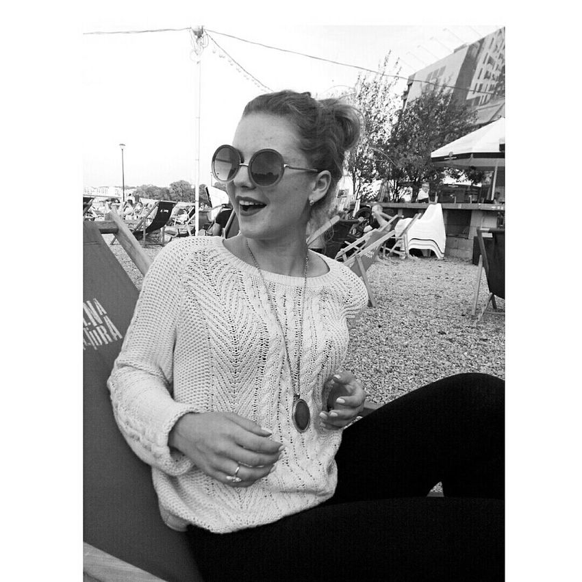 Summer Black And White Picoftheday Pretty Girl Cute Krakow,Poland Beautiful Smile ✌