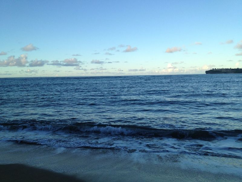 Lydgate Beach in Kauai, Hawaii Beach Blue Water Clouds And Sky Coastline Day Hawaii Horizon Over Water Kauai Lydgate Beach No People Sea Seascape Shore Sky Tourism Water Waves