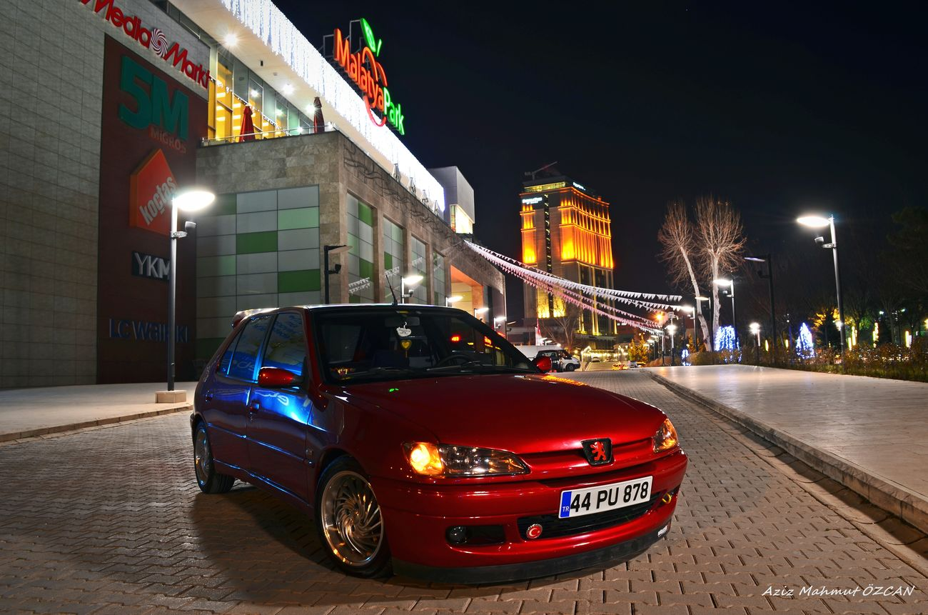 Peugeotlove CarShow Cars Carpicture Redcar Nightphotography Night Lights Followme Peugeot 306 LegendCars