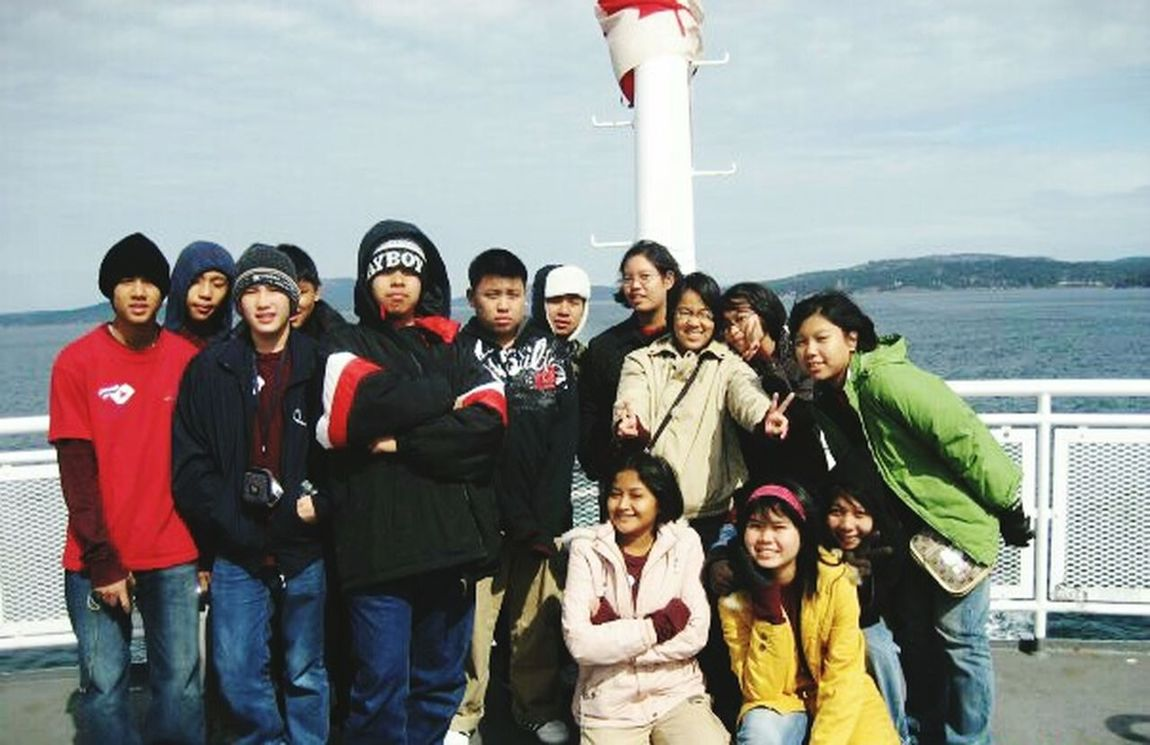 When I was a kid. I have seen a new world. I miss the old time, canada. Lifestyle Journey Traveling Vacation Time Exchange Student On The Ferry Explore Nature Friendship