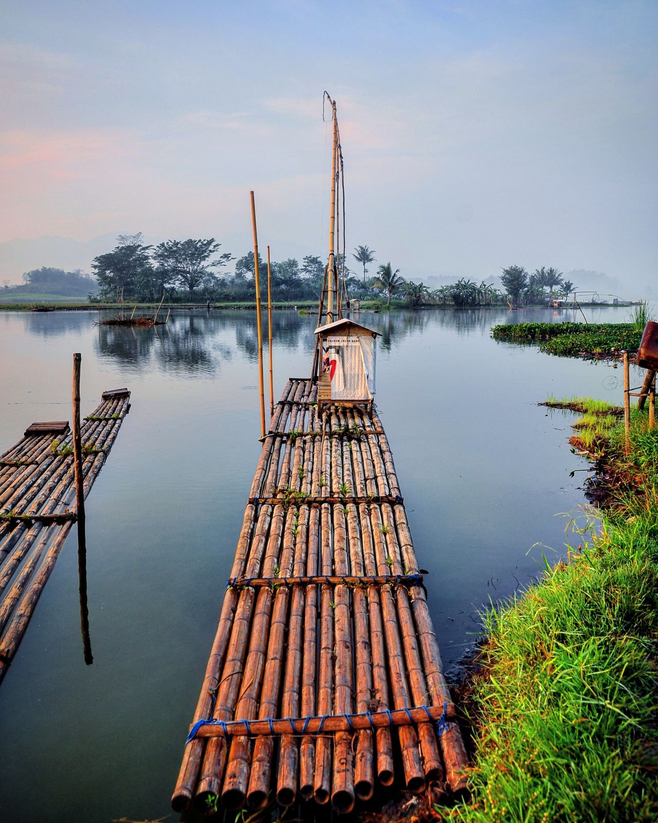Water Reflection Lake Sky Travel Nature Tranquility Nautical Vessel No People Outdoors Social Issues Beauty In Nature Scenics Day INDONESIA Vacations Landscape Travel Photography Traveler Traveling Travel Destinations Travel Travelling Morning Relaxation